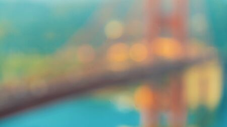 Abstract defocused view of San Franciscos Golden Gate Bridge