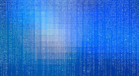 Abstract digital technology matrix with mosaic squares gradient background