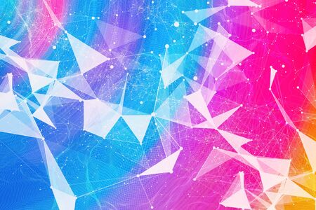 Abstract technology AI geometric lines background design 스톡 콘텐츠