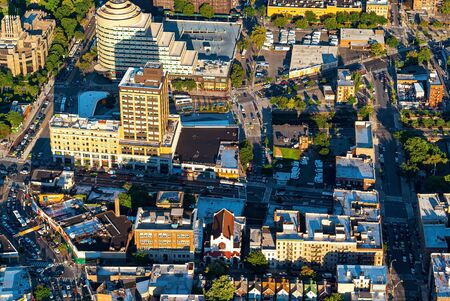 Aerial view of the Bronx, New York City
