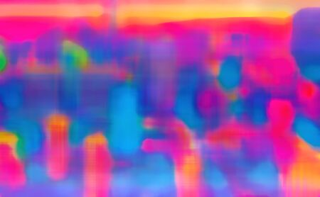 Abstract blurred colorful retro gradient neon background Banco de Imagens