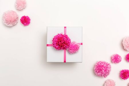 A gift box on a white background