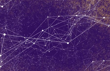 Abstrakte Technologie AI geometrische futuristische Linien