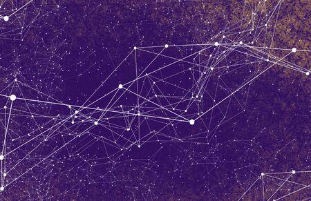 Lignes futuristes géométriques de la technologie abstraite AI