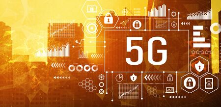 5G network with downtown San Francisco buildings