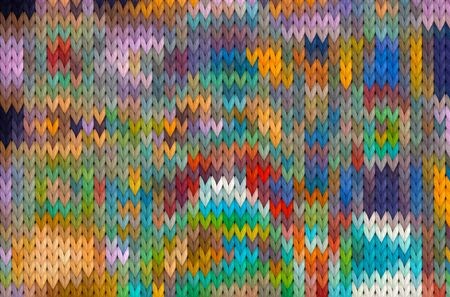 Abstract pattern on sweater knit fabric texture