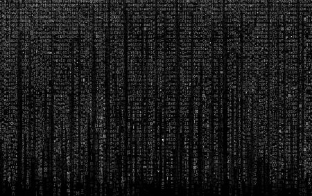Abstract matrix digital numbers artifical intelligence ai theme