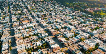 Aerial view of San Francsico, CA residential area