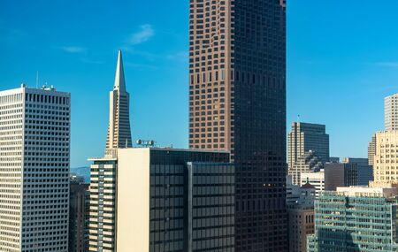 Downtown San Francisco skyline buildings and skyscrapers