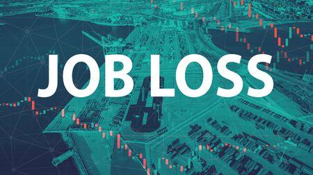 Job Loss theme with US shipping port in Oakland, CA 版權商用圖片