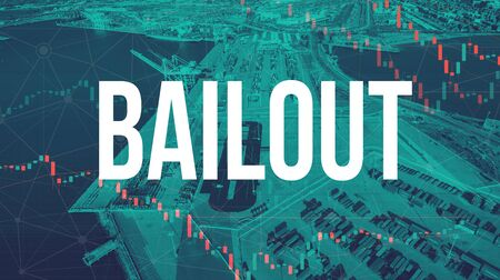 Bailout theme with US shipping port in Oakland, CA