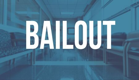 Bailout theme with a medical office reception waiting room background