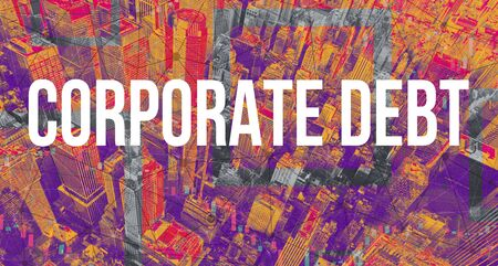 Corporate Debt theme with Manhattan New York City skyscrapers