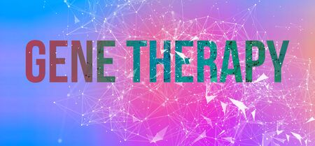 Gene Therapy theme with abstract network lines and patterns