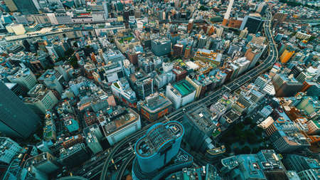 Tokyo, Japan cityscape view from high above Archivio Fotografico