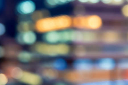 Blurred abstract bokeh background of Tokyo, Japan at night