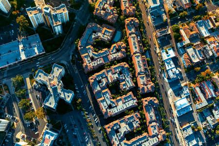 Aerial view of buildings on near Westwood, Los Angeles, CA Reklamní fotografie