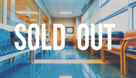 Sold out theme with a medical office reception waiting room background