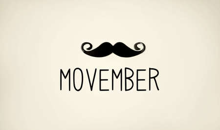 Movember - raise awareness of mens health issues Standard-Bild - 158001993