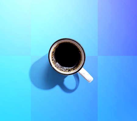 Coffee mug pattern overhead view Standard-Bild