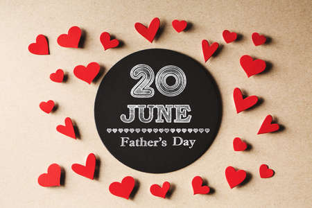 20 June Fathers Day message with small hearts