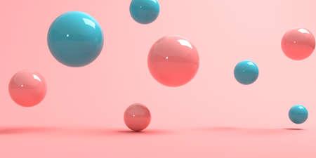 3D render of abstract spheres Standard-Bild