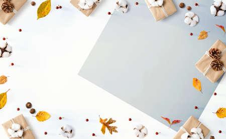 Gift boxes with autumn theme 版權商用圖片