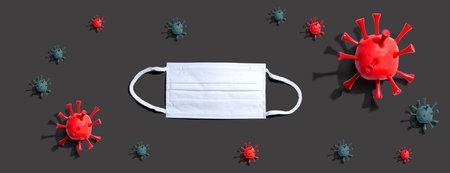Viral epidemic influenza and Coronavirus concept