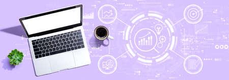 Data Analysis concept with a laptop computer 版權商用圖片