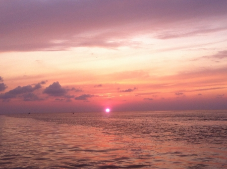 south padre: Sunset on south padre island  Stock Photo