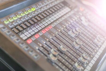 Mixing Console , Sound mixer control,