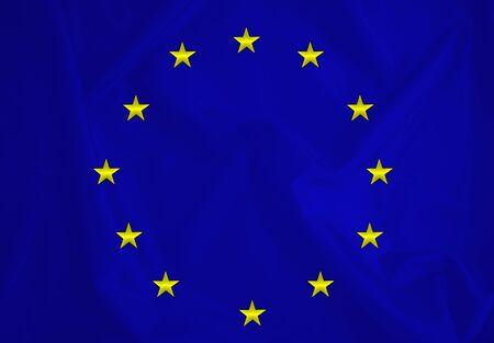 Fabric texture of the European Union flag