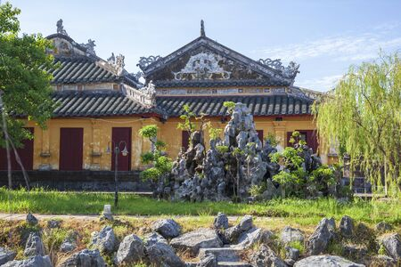 Temple of Generations in the Hue Citadel. Imperial Citadel Thang Long, Vietnam UNESCO World Heritage Site.