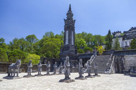 Tomb of Khai Dinh, It was built for the Nguyen Emperor Khai Dinh in 1920 and complete in 1931.