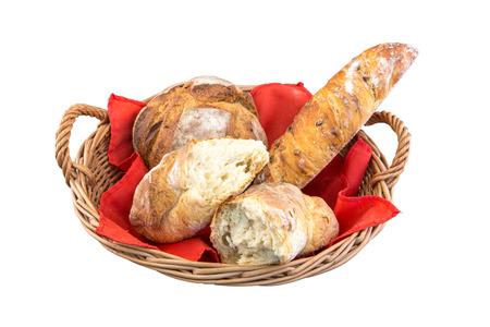 canasta de pan: Cesta de pan Foto de archivo