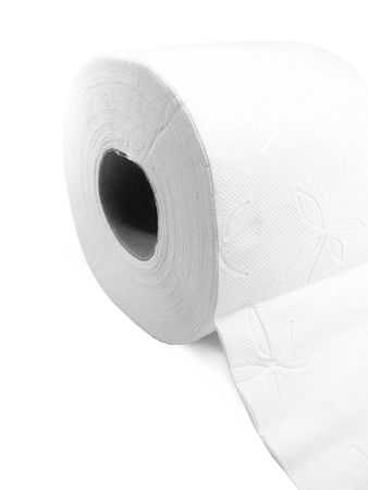 roll of toilet paper isolated on a white background. Stock Photo - 2856962