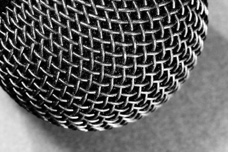 Head macro detail of a microphone.  photo