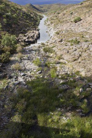 region of algarve: View of the river Vasc�o located on the interior of Algarve region on Portugal.