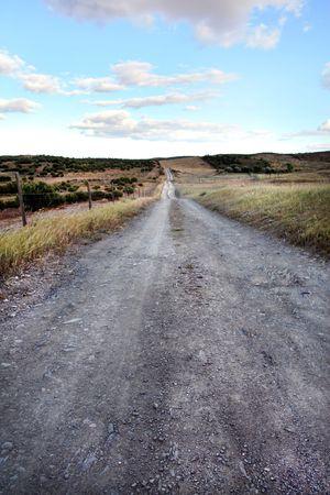 region of algarve: View of a dirt road on the countryside region of Algarve.