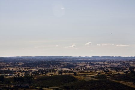Typical landscape view of the Alentejo region on Portugal. Stock Photo - 6295291