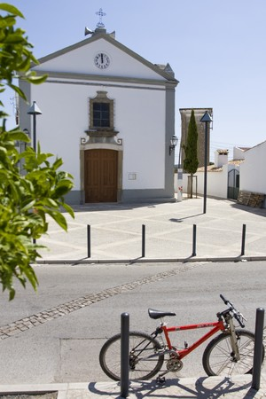 chappel: View of a small chappel on the village of Alportel on Portugal.