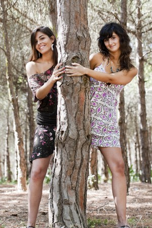hot chick: two girls Stock Photo