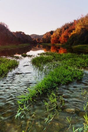 Beautiful view of a interior river of the Algarve region, Portugal. photo