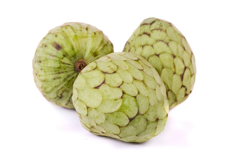 Close up view of  annona fruits isolated on a white background. Stock Photo - 12210097