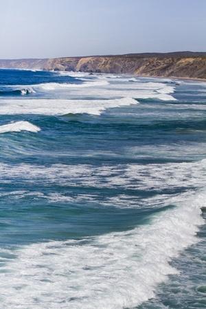 region of algarve: View of a beautiful coastline in Sagres nearby region on the Algarve, Portugal.