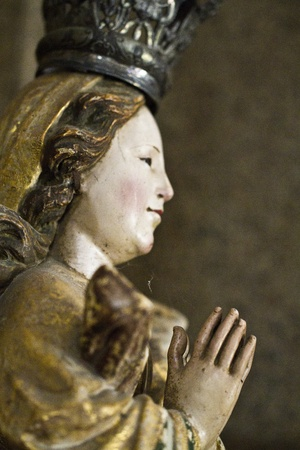 Close view detail a Christian religious statue. Stock Photo - 12211618