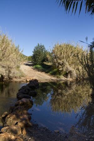 region of algarve: View of a countryside river on the Portuguese region, Algarve.