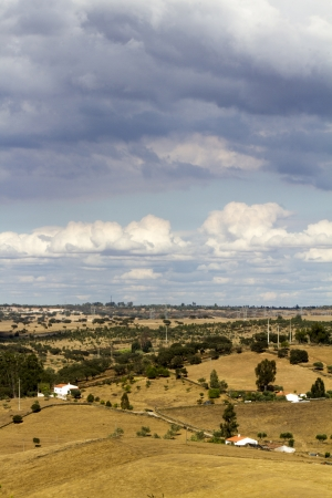 View of a typical Alentejo dry landscape located in Portugal. Stock Photo - 15274914
