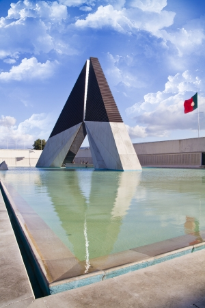 of homage: View of the monument that represents an homage to the Portuguese Soldiers fallen in the Ultramar war 1961-1975. Lisbon, Portugal.
