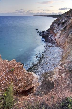 region of algarve: View of the beautiful natural coastline of the region of Lagoa, Algarve, Portugal.